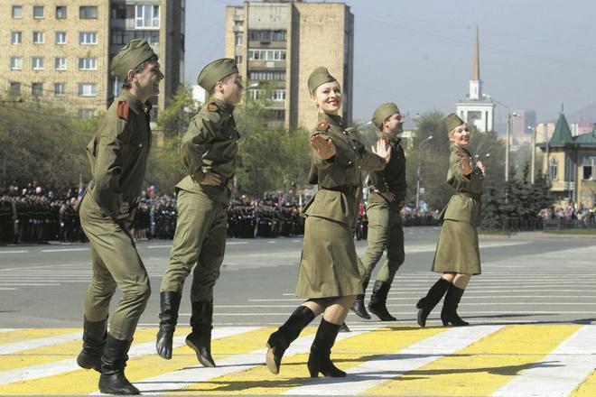 Танец в честь Дня победы