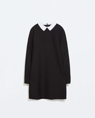 Платье с белым воротничком