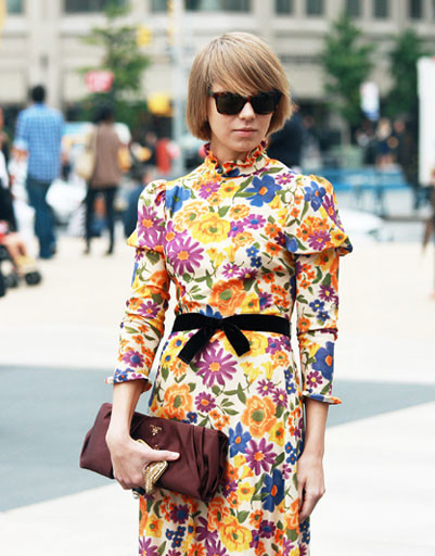 Вика Газинская на Неделе моды в Нью-Йорке