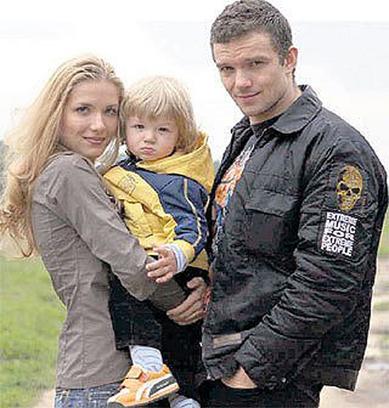 Владимир Епифанцев с женой и сыном
