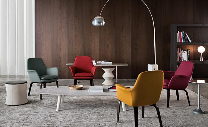 Кресла York Lounge, дизайн Родольфо Дордони для Minotti.