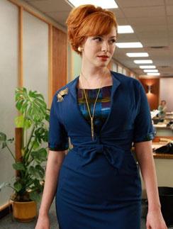 """Кристина Хендрикс (Christina Hendricks), кадр из сериала """"Безумцы"""""""