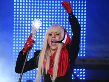 Леди Гага во время своего выступления