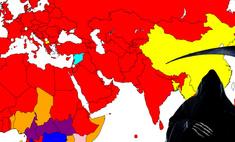 карта самая распространенная причина смерти каждой стране мира