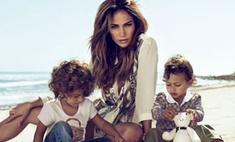 Дженнифер Лопес снялась в рекламе Gucci вместе с детьми