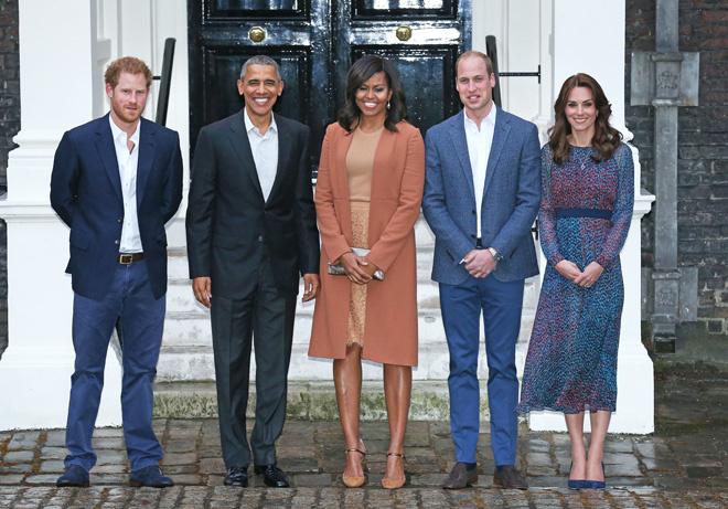 Семья Обама в гостях у герцога и герцогини Кембриджских