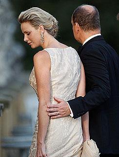 Альбер II (Prince Albert of Monaco) и его жена Шарлин Уиттсток (Charlene Wittstock)