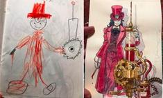 Вырастить художника: папа превратил рисунки сына в шедевры