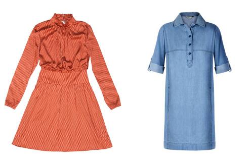 Платье BGN (около 5750 р), джинсовое платье Mango (от 649 р)