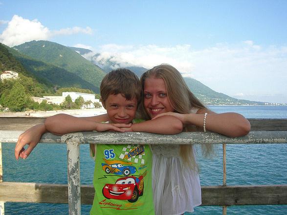 Актриса Мария Виненкова с сыном Александром, фото