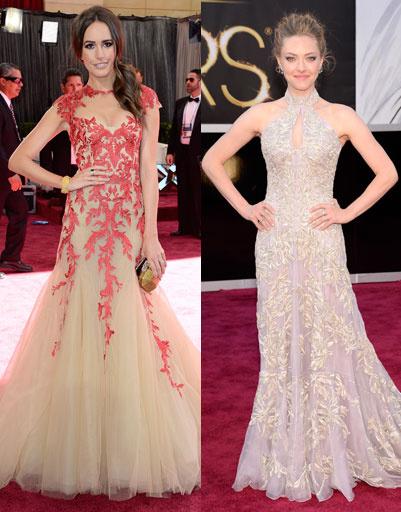 """Луиза Рой (Louise Roe) и Аманда Сайфред (Amanda Seyfried) на """"Оскаре""""-2013"""