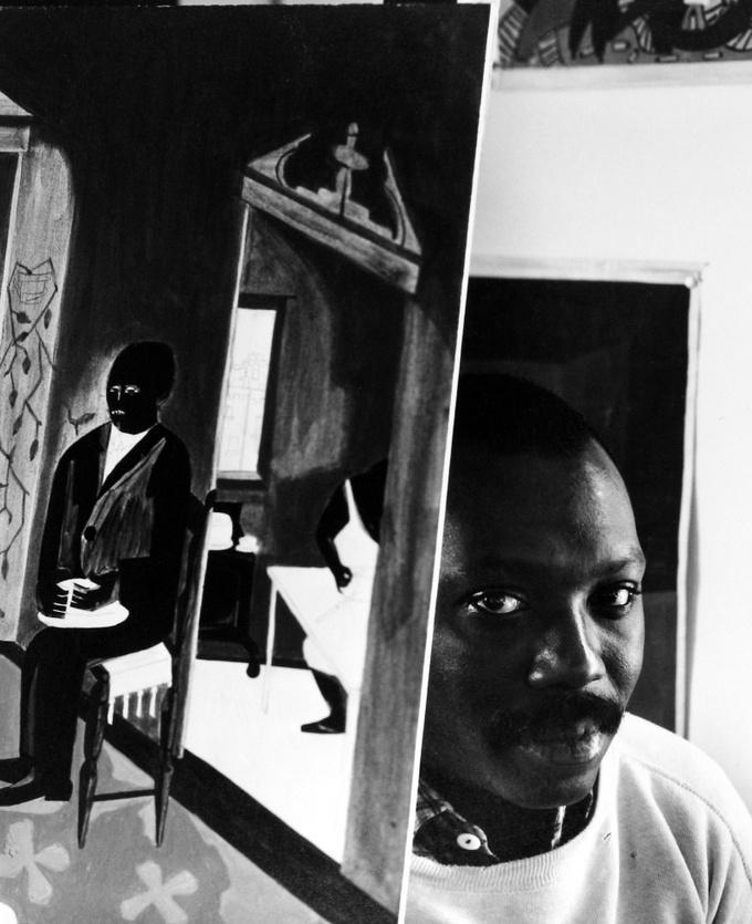 Арнольд Ньюман. Джейкоб Лоуренс, художник, преподаватель, график, Бруклин, Нью-Йорк, 1959