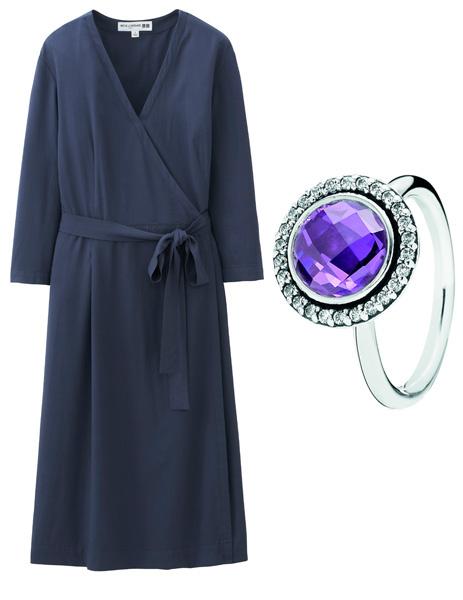 Платье Ines De La Fressange Paris - Uniqlo, кольцо Pandora