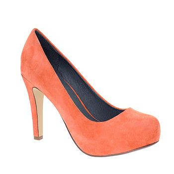 Яркие туфли с округлым мыском