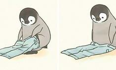 Серия умилительных комиксов про пингвина, который ничего не может сделать (галерея)