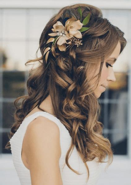Как украсить цветами свадебную прическу   галерея [4] фото [1]