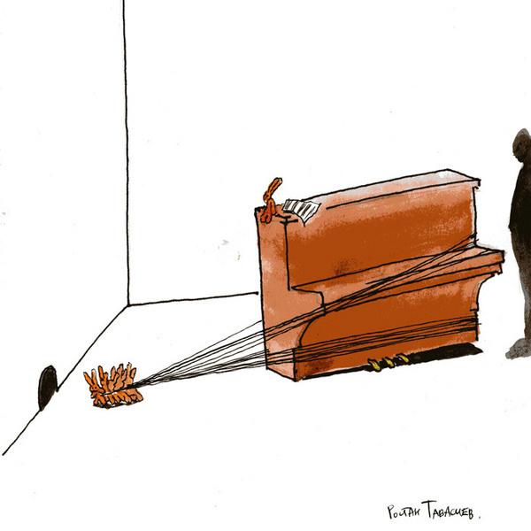 Ростан Тавасиев, «Пианино». Эскиз инсталляции. 2009 г.