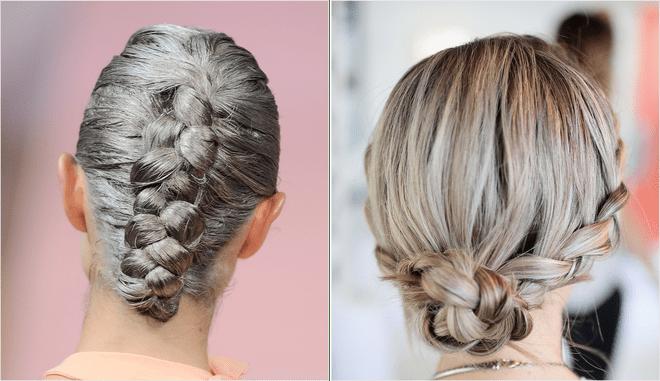 коса обратное плетение