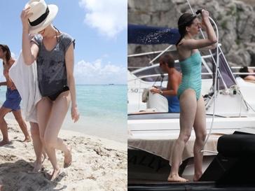 Энн Хэтэуэй (Ann Hathaway) никогда не была полной, но если сравнить ее фото 2012 года (справа) и 2011 года, можно заметить, что Энн стала выглядеть совсем истощенной.