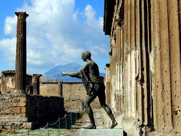 Древнюю статую нашли в Италии