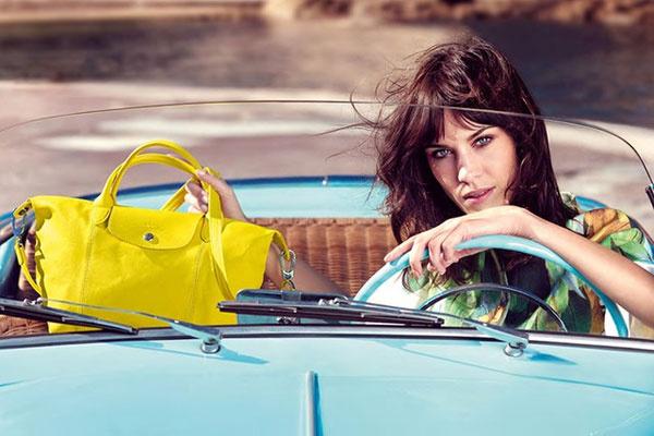 Алекса Чанг в рекламной кампании Longchamp весна-2014