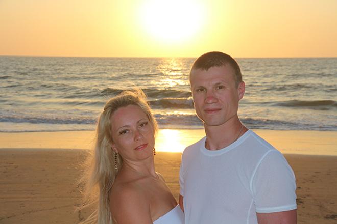 Лариса с мужем Рустамом