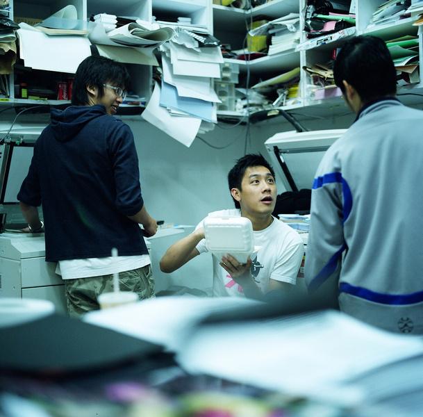 Студенты отделения архитектуры Университета Гонконга.