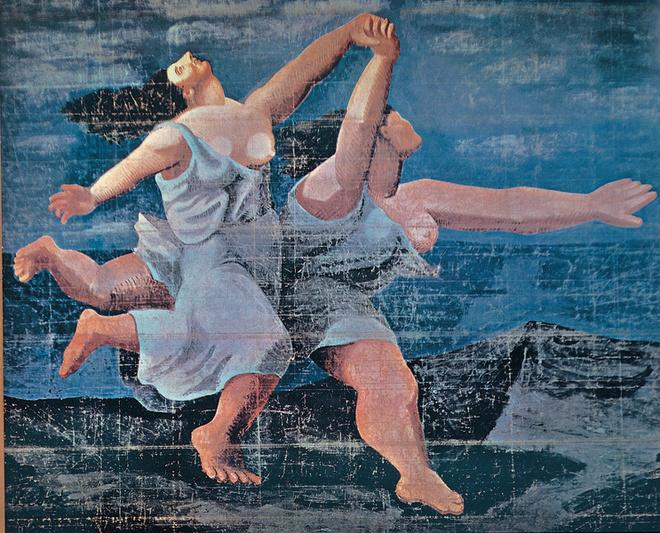 Пабло Пикассо. Занавес к балету «Голубой экспресс». 1924.