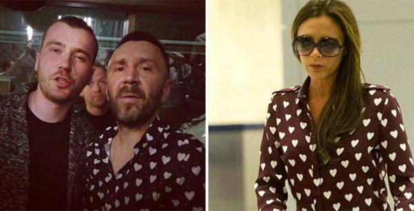 Сергей Шнуров и Виктория Бекхэм