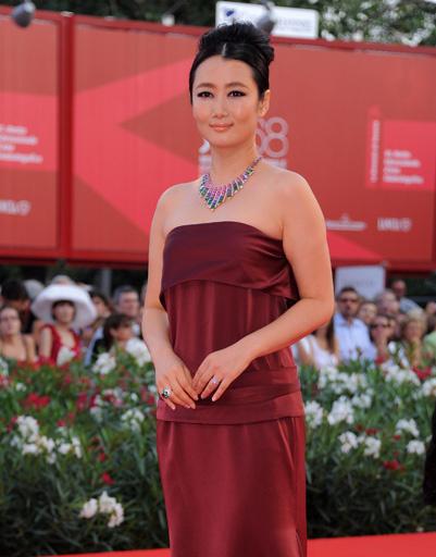 Жао Тао (Zhao Tao) на церемонии закрытия 68-го Венецианского кинофестиваля