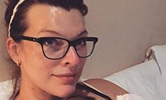 Молодая мама Милла Йовович отказалась от косметики
