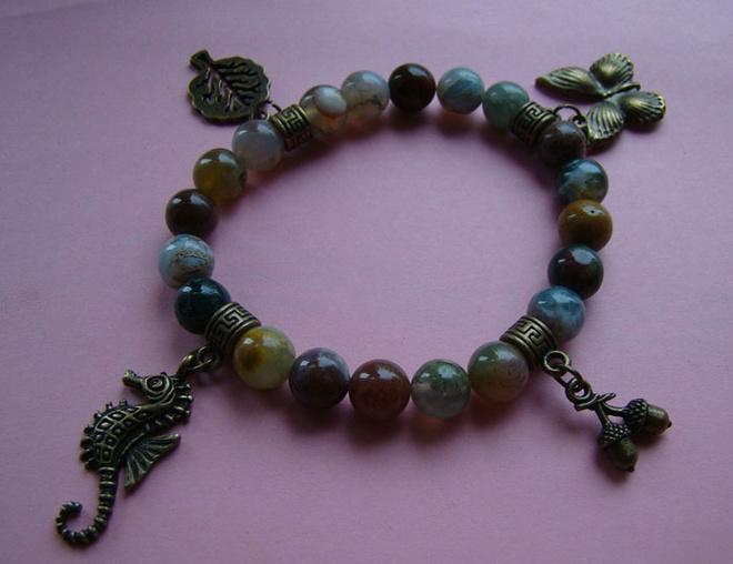 Браслеты с натуральными камнями, украшения ручной работы