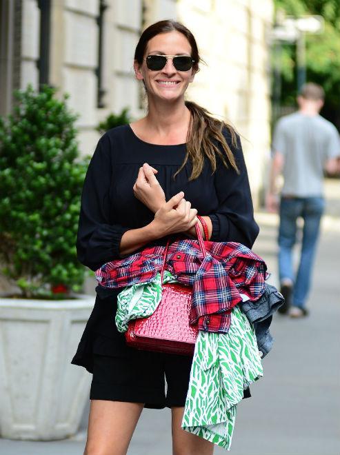 Джулия Робертс на прогулке в Нью-Йорке, 2013 год