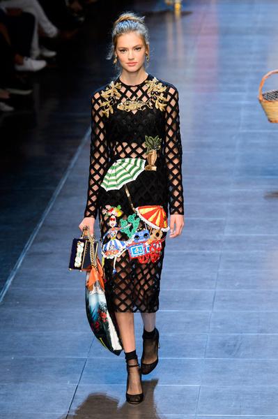 50 лучших платьев Недели моды в Милане | галерея [1] фото [19]