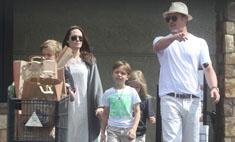 Счастливы вместе: семейство Джоли-Питт на прогулке