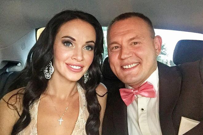 Степан Меньщиков с женой Евгенией, свадьба, фото