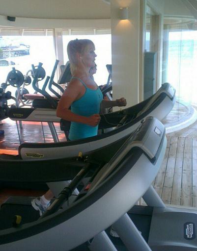 Валерия частый гость в спортзале