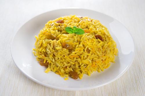 Рис с фенхелем и изюмом