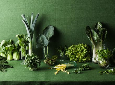 Натюрморт из зеленых овощей