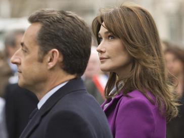Президент Франции Николя Саркози и первая леди Франции Карла Бруни