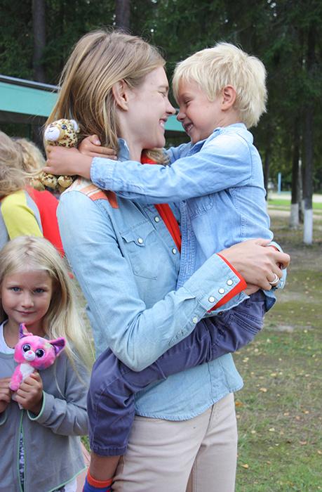 Наталья с сыном Виктором