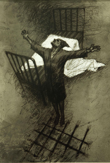 Иллюстрация Анны Павлеевой к рассказу «Палата №6».