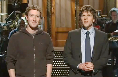 Джесси Айзенберг (Jesse Eisenberg) и Марк Цукерберг (Mark Zuckerberg)
