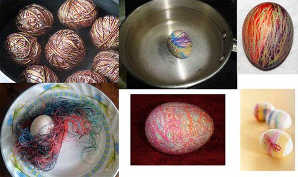 «Вязаные» пасхальные яйца, фото