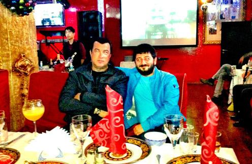 Михаил Галустян и Стивен Сигал (Stiven Seagal)