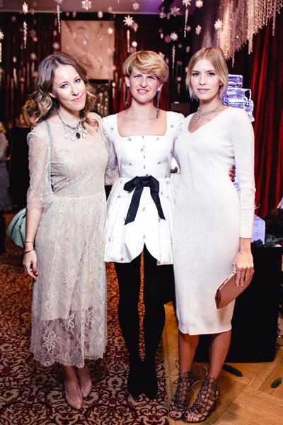 Ксения Собчак, Полина Киценко и Елена Перминова на презентации украшений YANA
