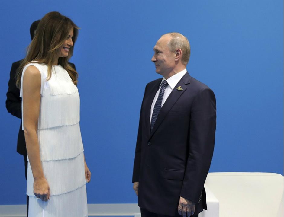 Владимир Путин и Мелания Трамп
