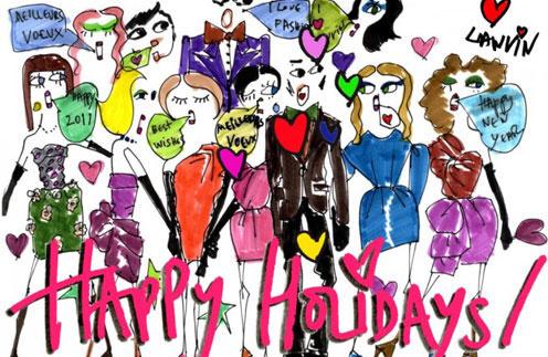 Рождественская открытка, которую создал Альбер Эльбаз в 2010 году