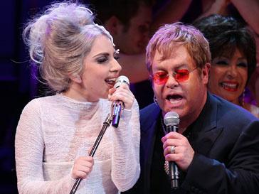 Леди ГаГа (Lady GaGa) и Элтон Джон (Elton John)