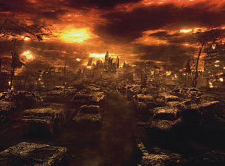 Скриншот компьютерной игры Fallout, действие которой происходит в мире после ядерной войны.